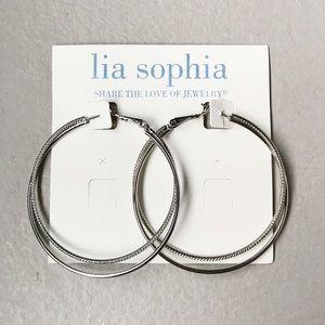 Lia Sophia | NWT Silver Twisted Hoop Earrings